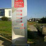 totem avec coffrage beton