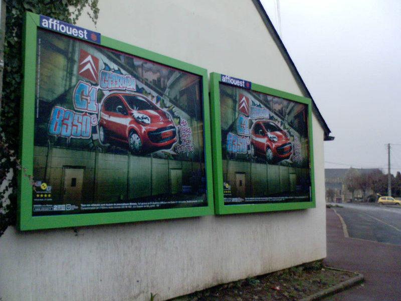 4 m² mural affichage